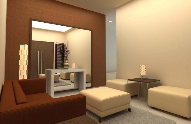 Ruang tamu minimalis yang simple nan anggun dengan sofa